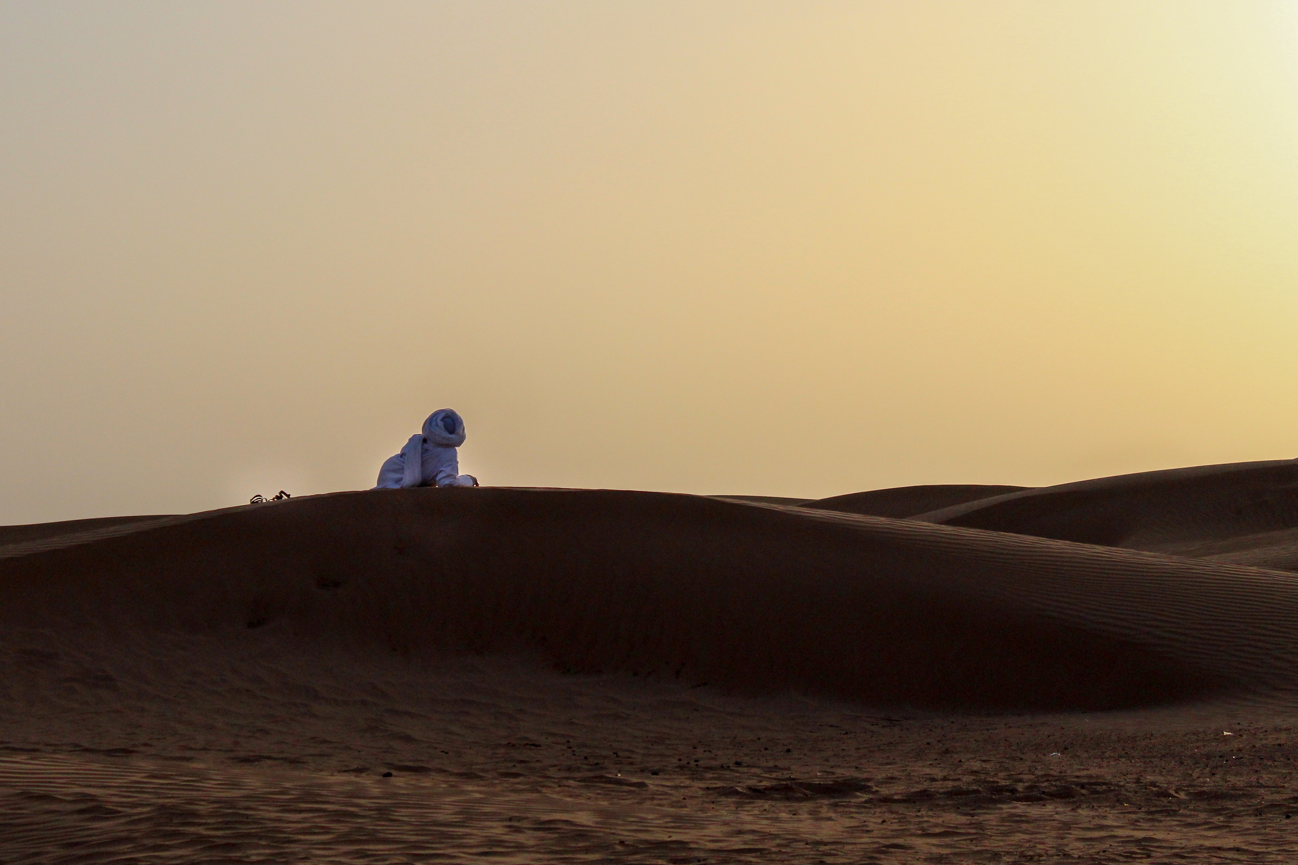 Tuareg in the desert in Morocco