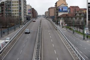 empty roads in Italy after coronavirus lockdown