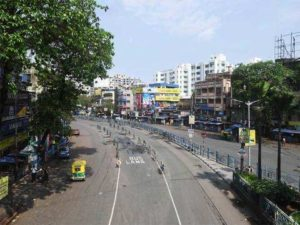 A deserted streets in India due to nationwide lockdown