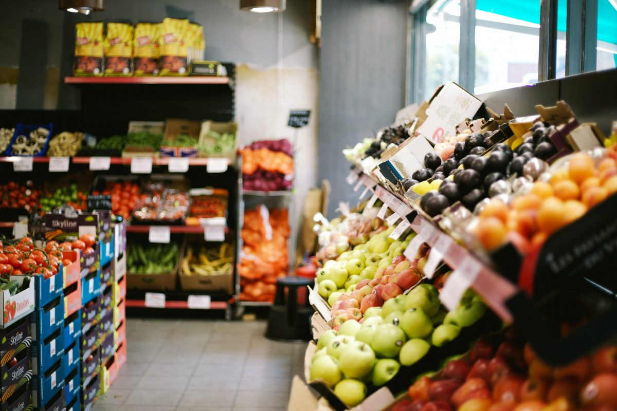 Food in supermarket